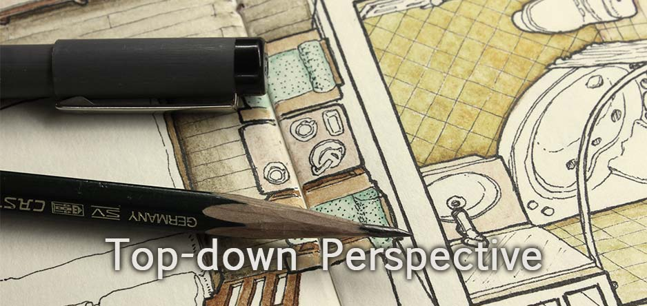 Top down perspective drawings